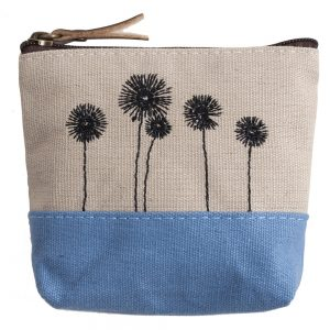 Coin Purse Stitched Plant Graphic Made With Cotton by JOE COOL