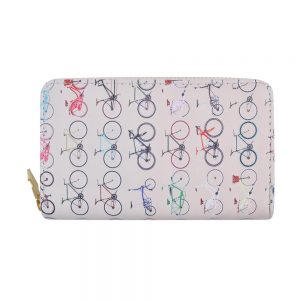 Zip Wallet Bicycle Made With Pu by JOE COOL
