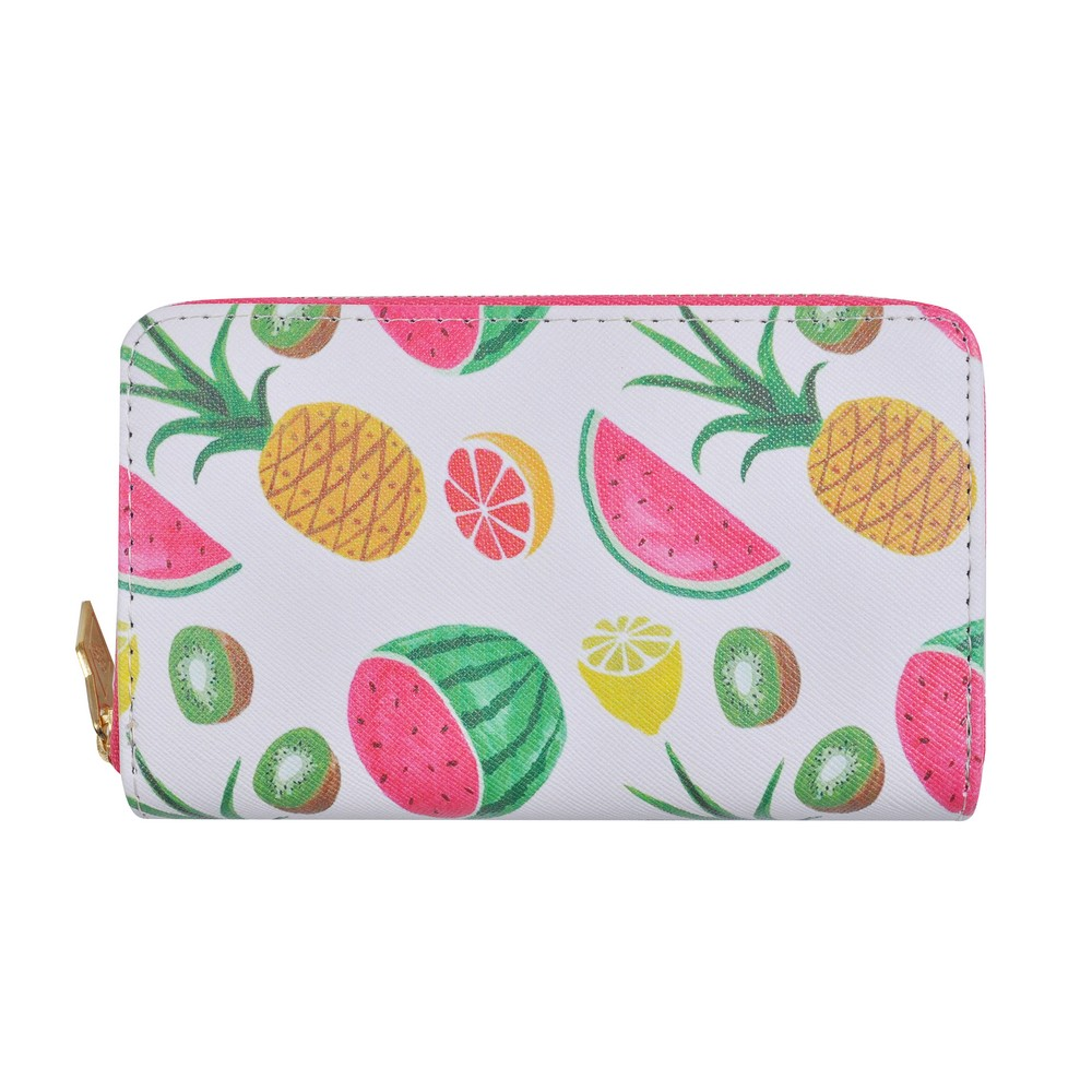 Zip Wallet Tropical Fruit Made With Pu by JOE COOL