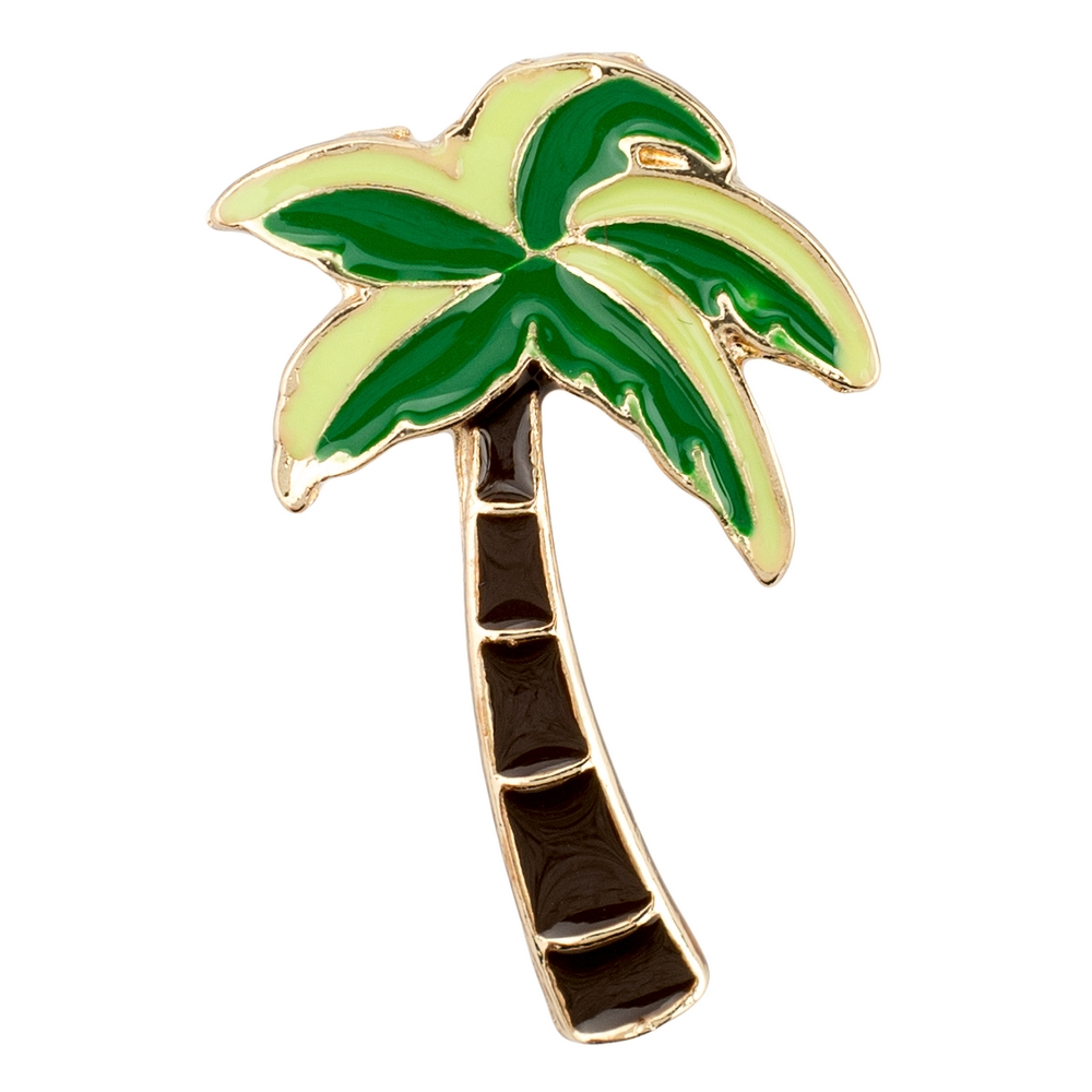 Clutch Pin Brooch Tropical Palm Tree Made With Zinc Alloy by JOE COOL