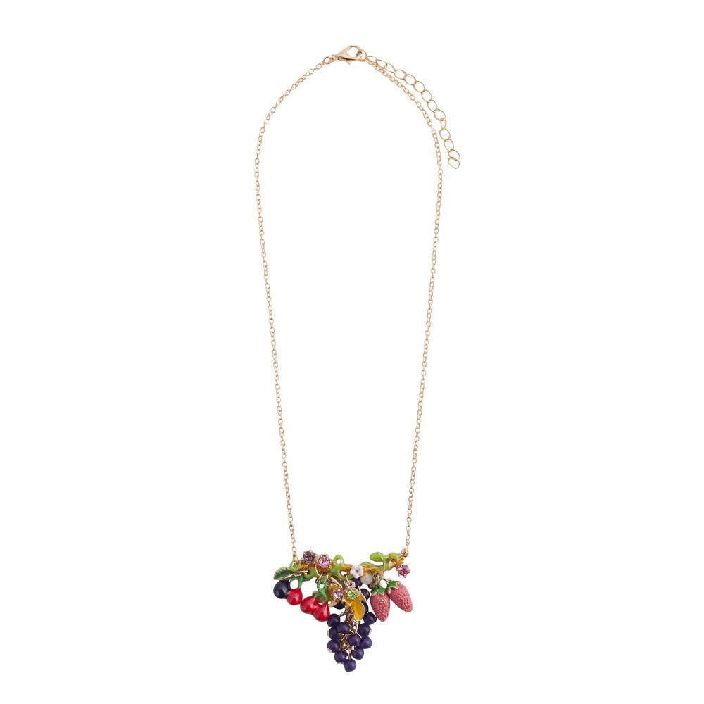 Necklace Carmen Miranda Made With Iron & Crystal Glass by JOE COOL