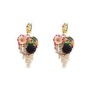 Stud & Drop Earring Bouquet Made With Enamel & Tin Alloy by JOE COOL