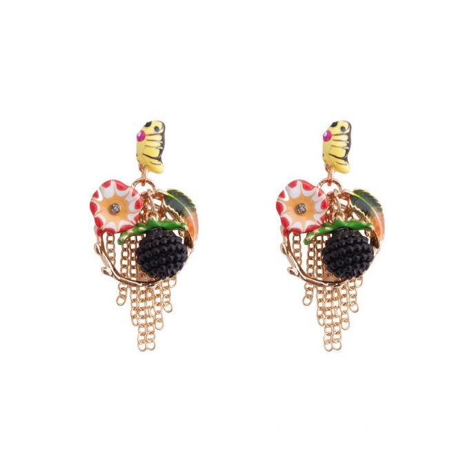 Stud & Drop Earring Bouquet Made With Enamel & Tin Alloy by JOE COOL