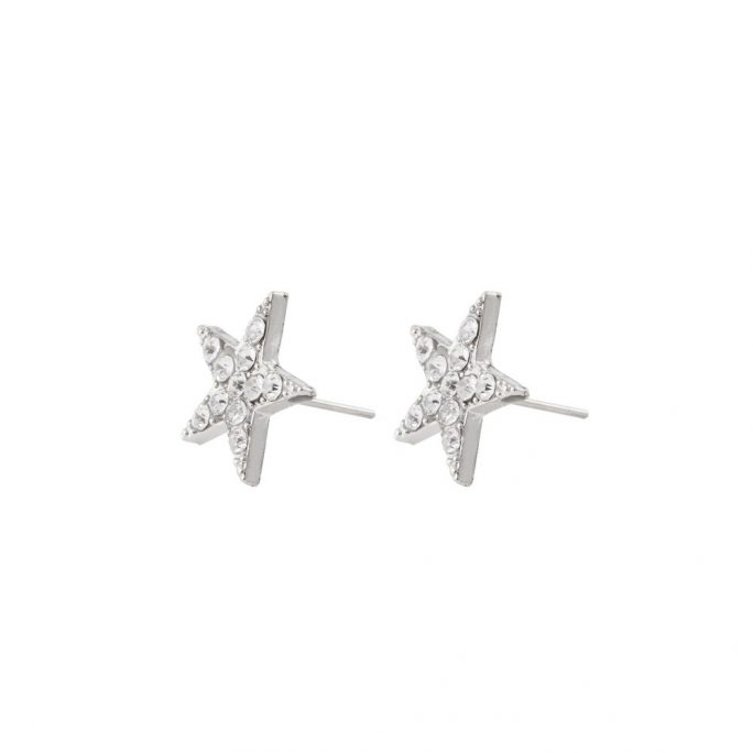 Stud Earring Sparkling Star Made With Tin Alloy by JOE COOL