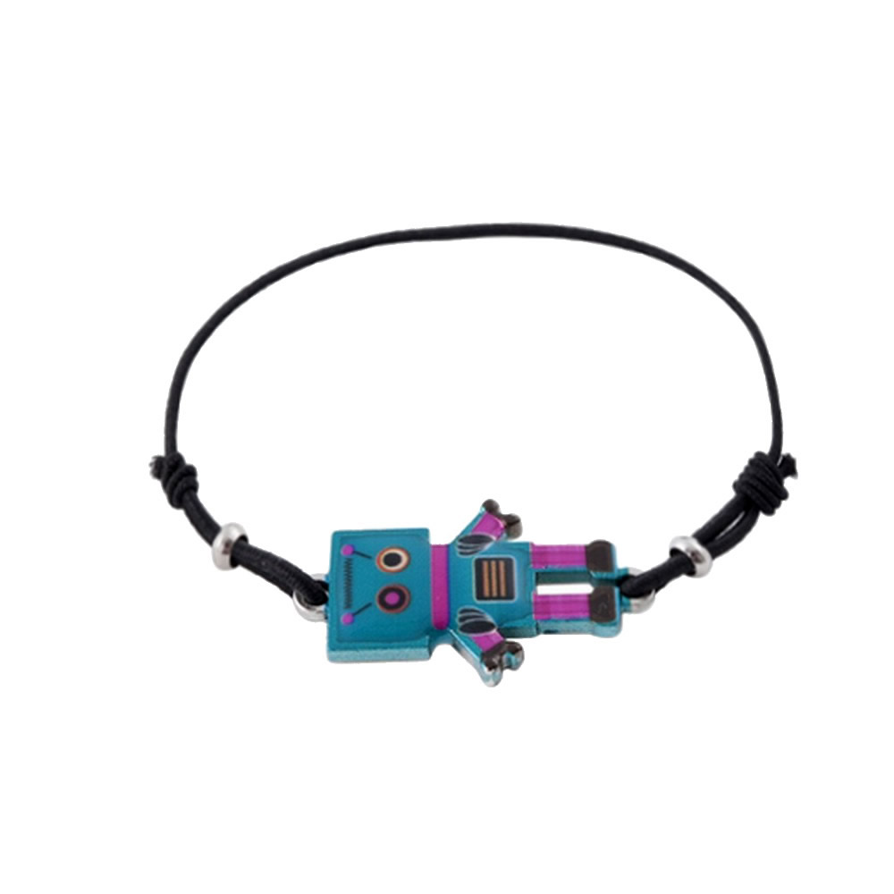 Bracelet Friendly Robot Made With Enamel & Tin Alloy by JOE COOL
