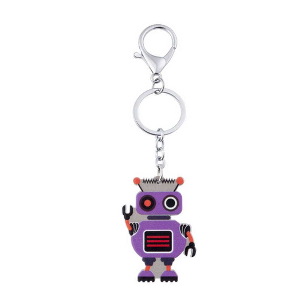 Keyring Friendly Robot Made With Enamel & Tin Alloy by JOE COOL