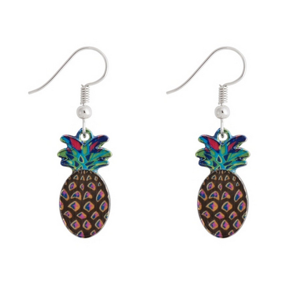 Drop Earring Pineapple Made With Enamel & Tin Alloy by JOE COOL