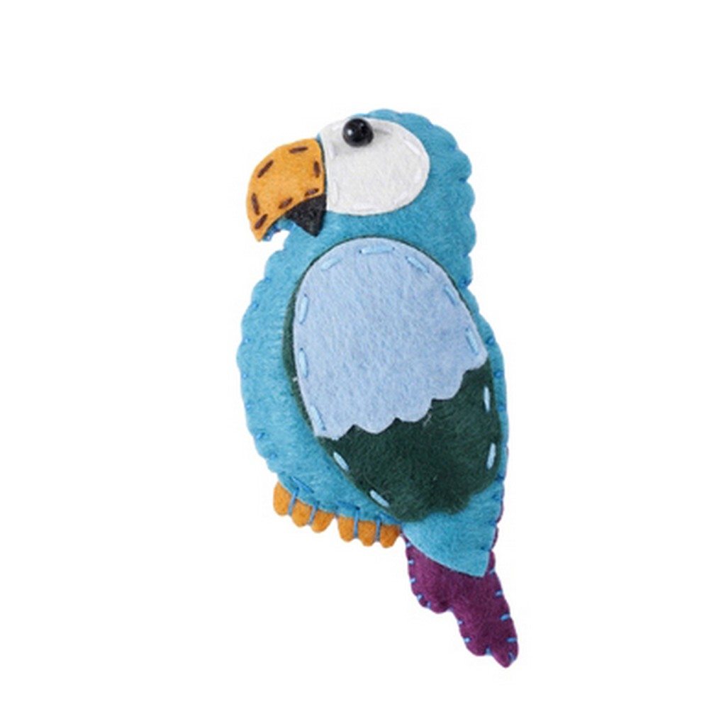 Brooch Tropical Creatures Parrot Made With Felt & Iron by JOE COOL