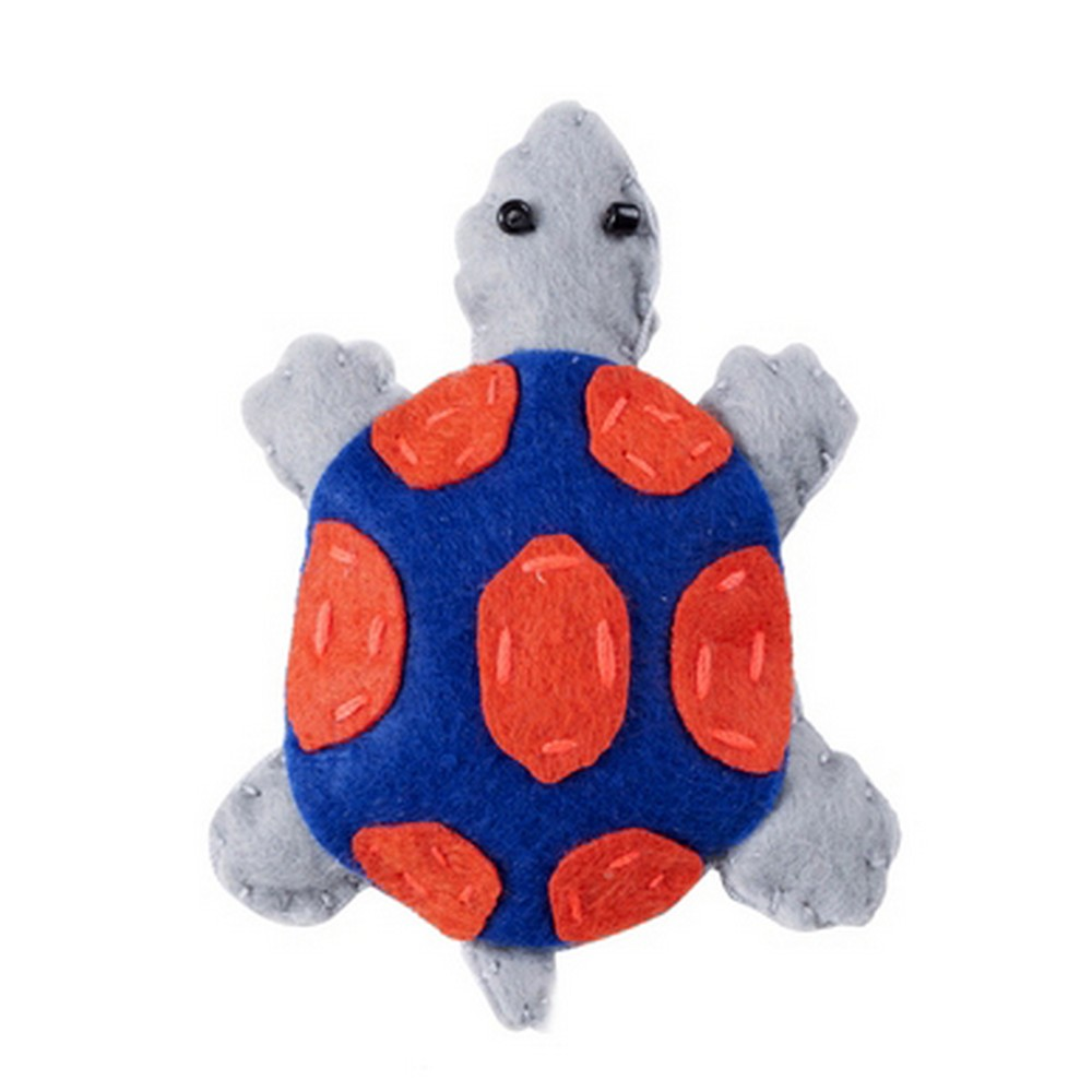 Brooch Tropical Creatures Turtle Made With Felt & Iron by JOE COOL