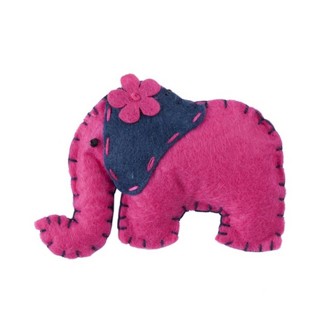 Brooch Cute Elephant Girl Made With Felt & Iron by JOE COOL