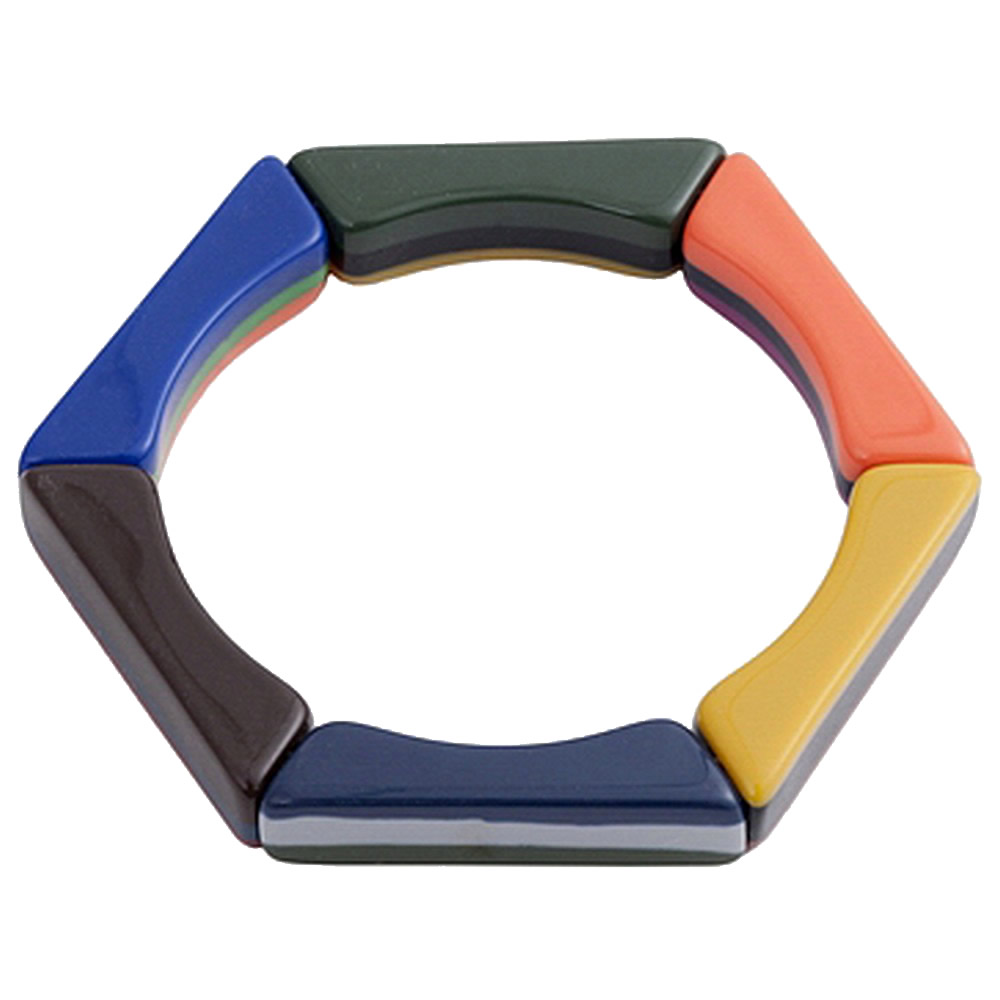 Bracelet Polygon Of Colour Made With Resin by JOE COOL