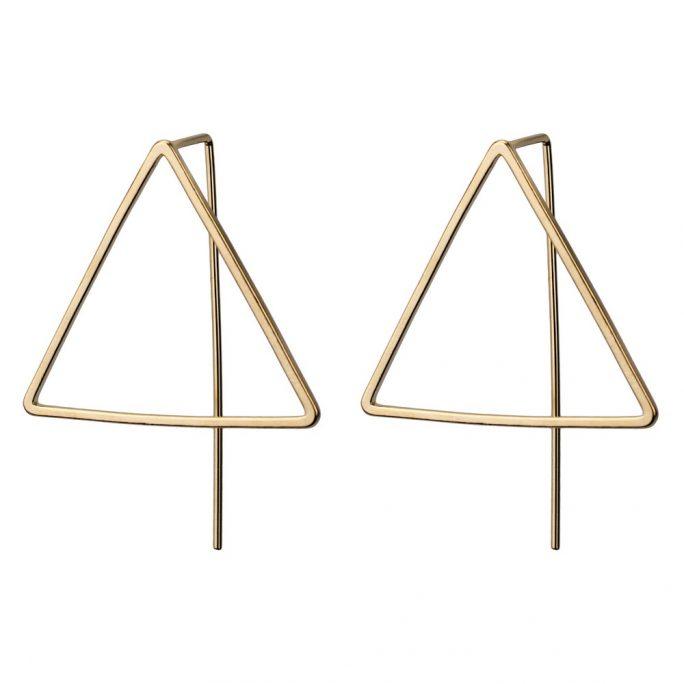 Drop Earring Big Triangle by JOE COOL