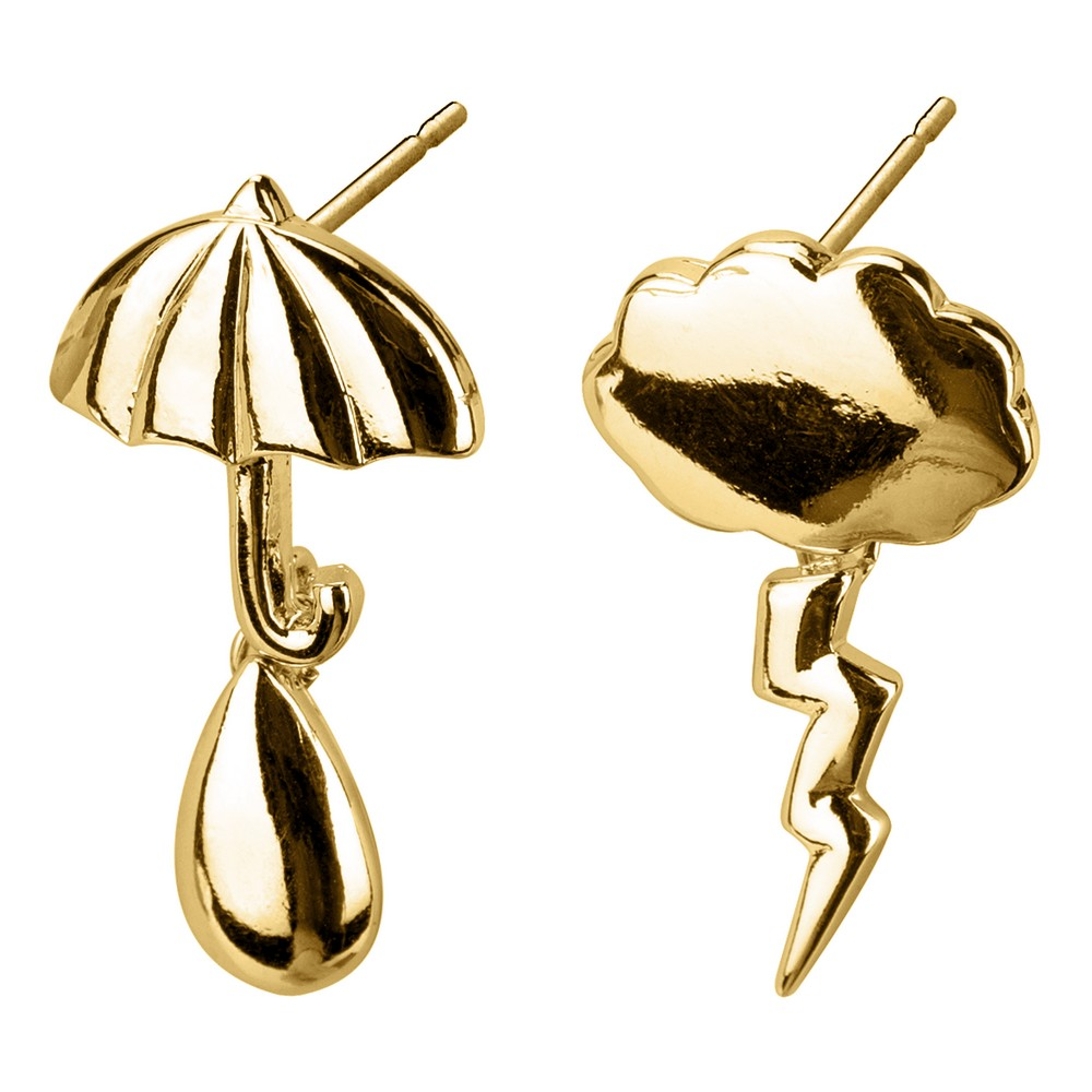 Stud & Drop Earring Weather Report Made With Tin Alloy by JOE COOL