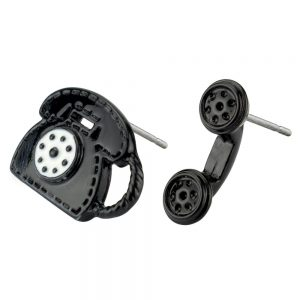 Stud Earring Telephone Made With Tin Alloy by JOE COOL