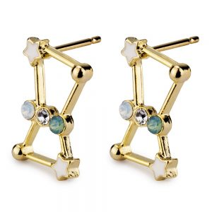 Stud Earring Constellation Orion Made With Tin Alloy & Crystal Glass by JOE COOL