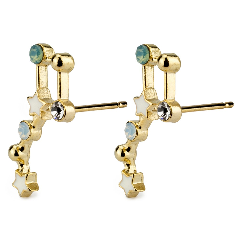 Stud Earring Constellation Big Dipper Made With Tin Alloy & Crystal Glass by JOE COOL