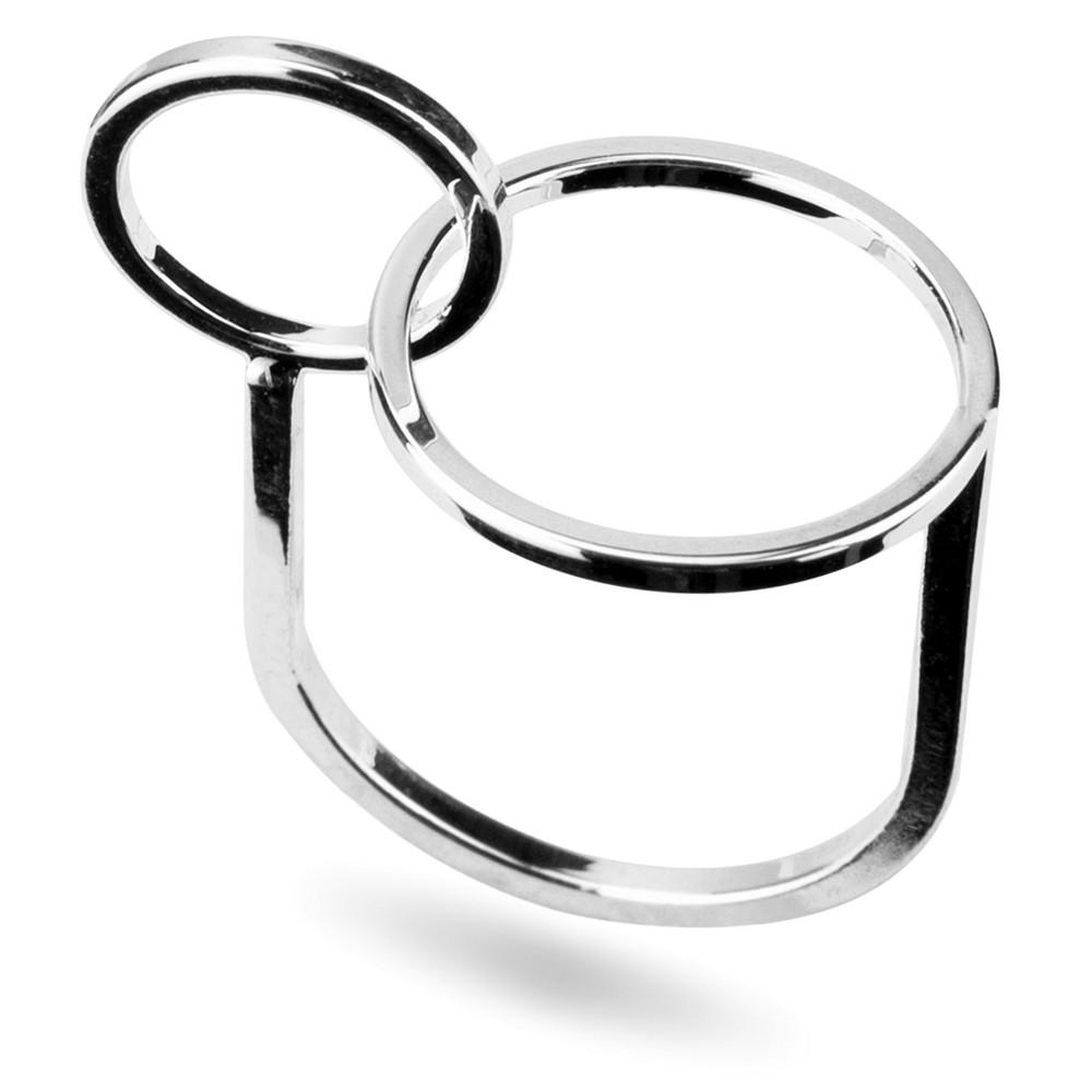 Ring Interlocked Circles Made With Tin Alloy by JOE COOL