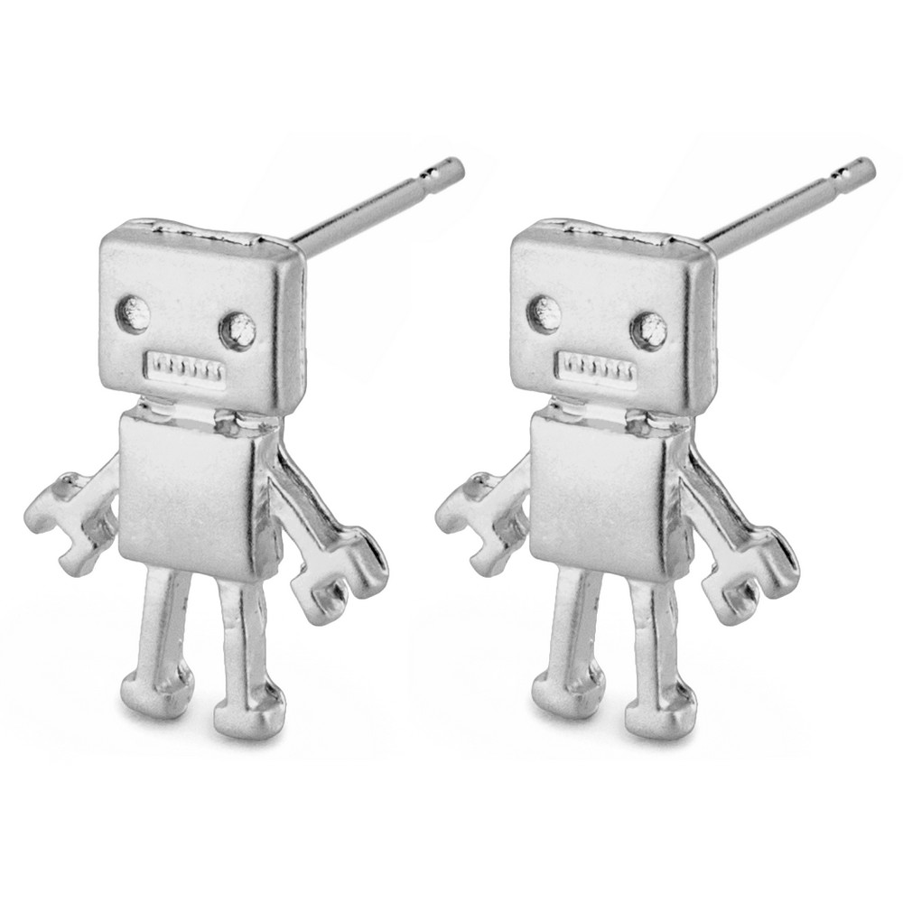 Stud Earring Robot Made With Tin Alloy by JOE COOL