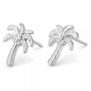 Stud Earring Palm Tree Made With Tin Alloy by JOE COOL