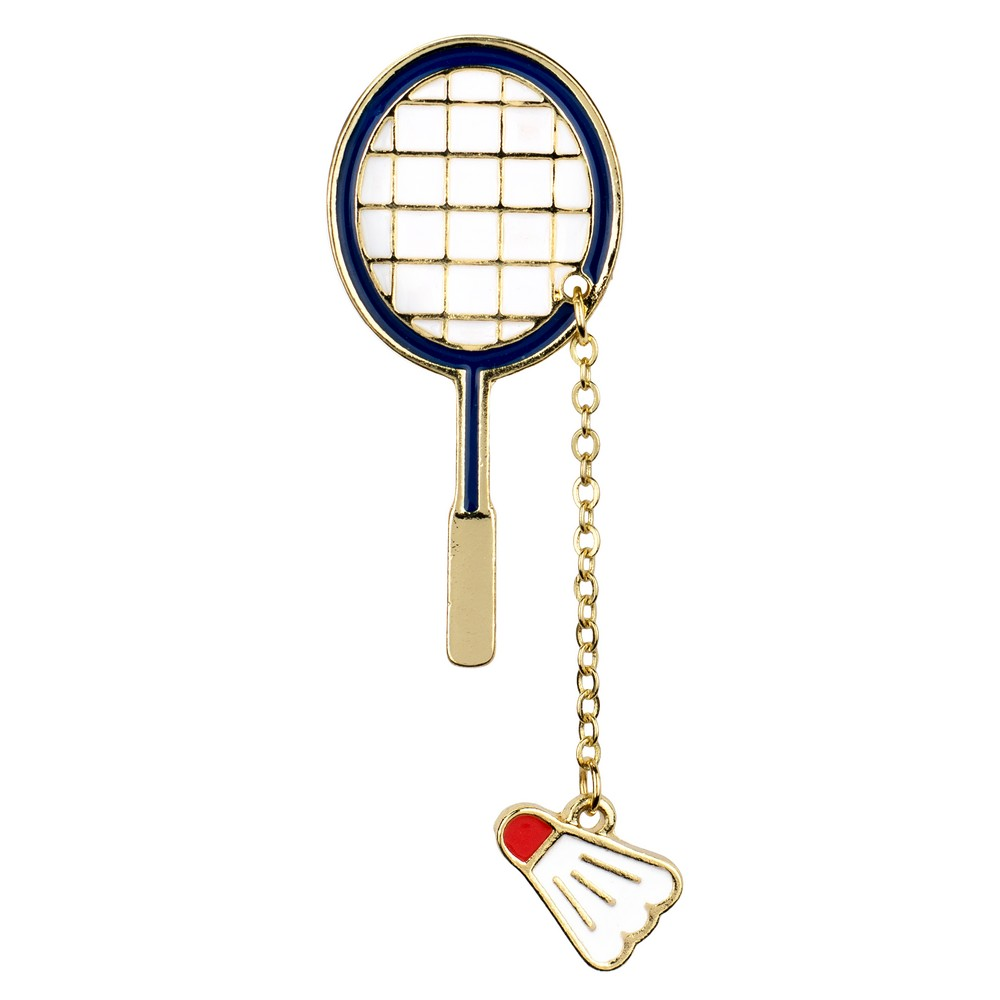 Brooch Badminton Made With Zinc Alloy by JOE COOL