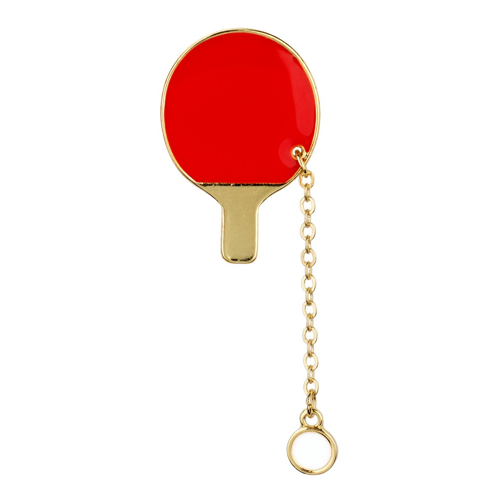 Brooch Table Tennis Made With Zinc Alloy by JOE COOL