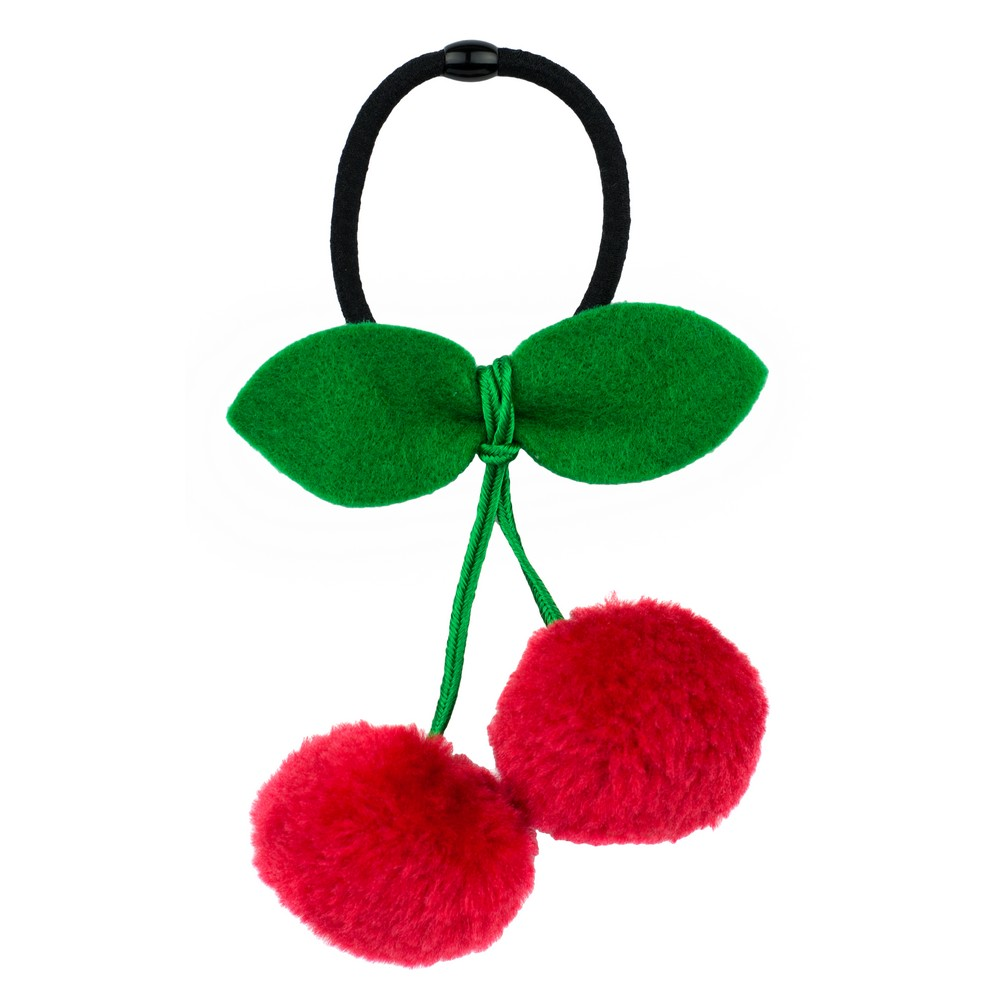 Hairwear Cherry Pompom Made With Cotton by JOE COOL
