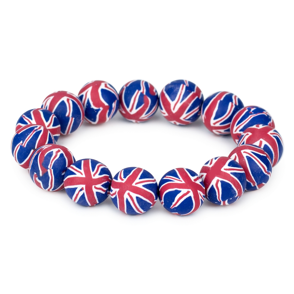 Bracelet Union Jack Made With Fimo by JOE COOL