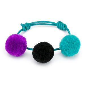 Bracelet Triple Pompom Made With Cotton by JOE COOL