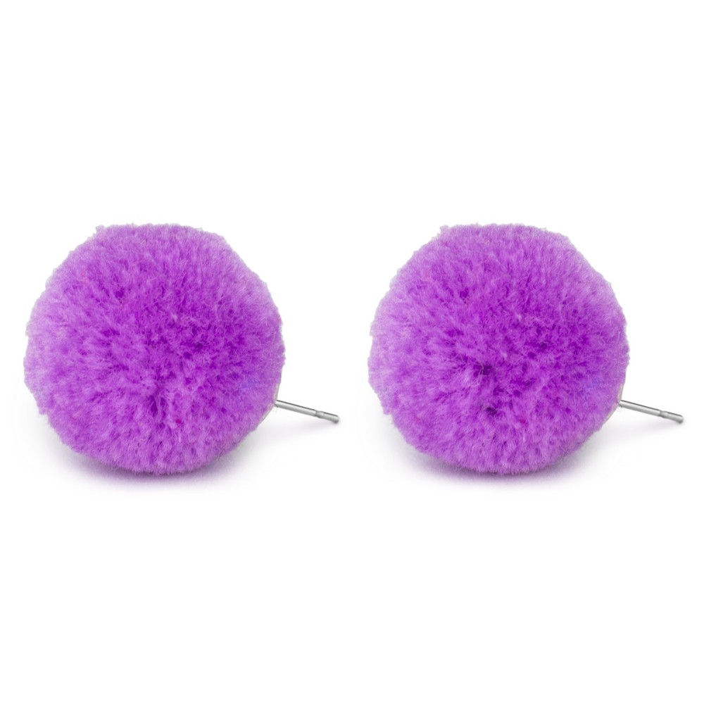 Stud Earring Pompom Made With Cotton by JOE COOL