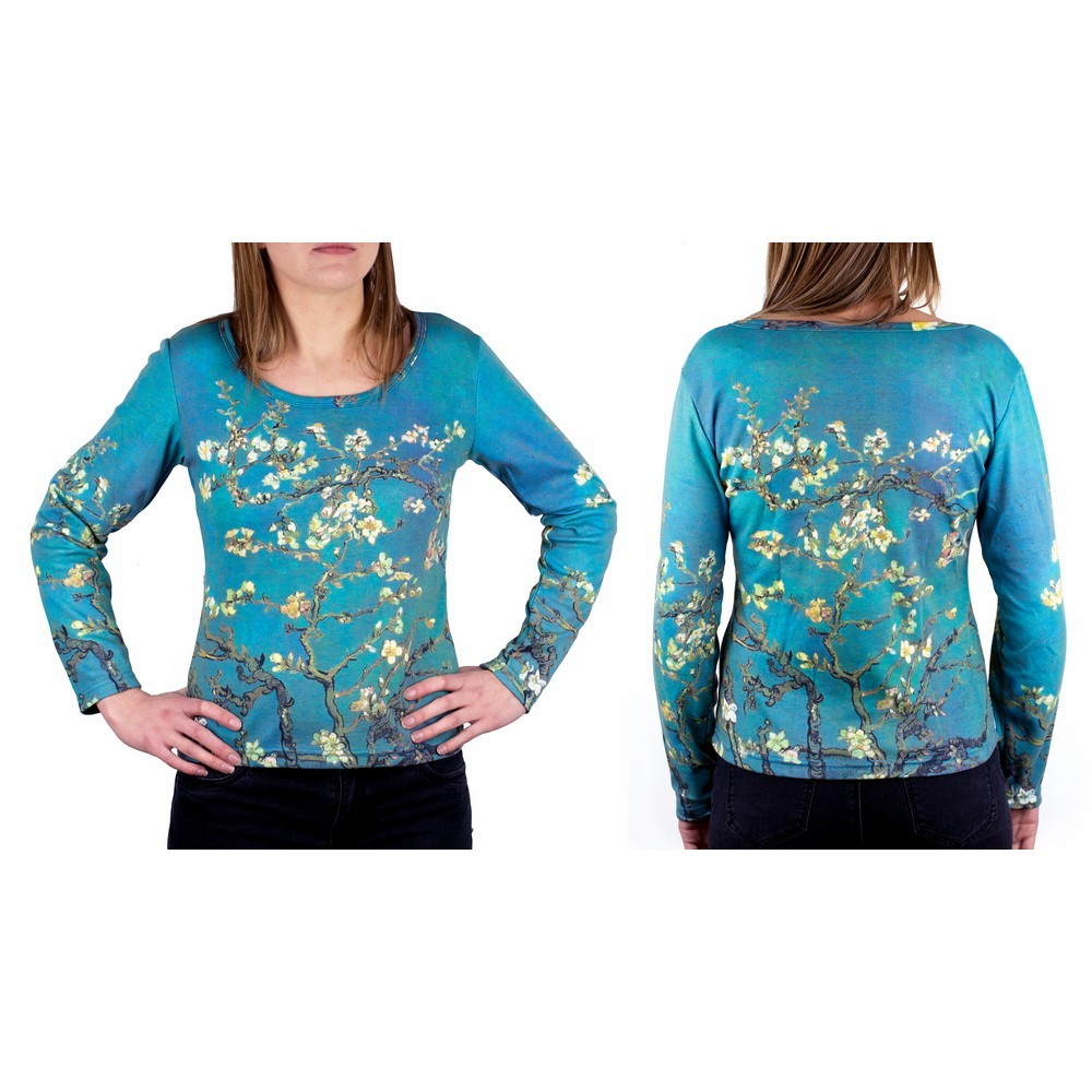 Clothes Almond Blossom Van Gogh Long Sleeve T-shirt Small by JOE COOL