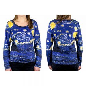 Clothes Starry Night Van Gogh Long Sleeve T-shirt Medium by JOE COOL