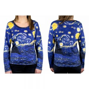 Clothes Starry Night Van Gogh Long Sleeve T-shirt Small by JOE COOL