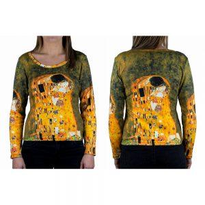 Clothes The Kiss Klimt Long Sleeve T-shirt Medium by JOE COOL