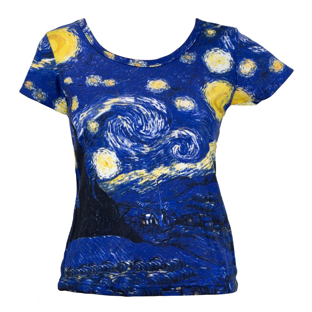 Clothes Starry Night Van Gogh Short T-shirt Medium by JOE COOL