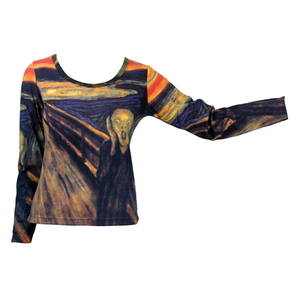 Clothes The Scream Munch Long Sleeve T-shirt Medium by JOE COOL