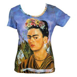 Clothes Frida Kahlo Self Portrait Short T-shirt Ex-large by JOE COOL