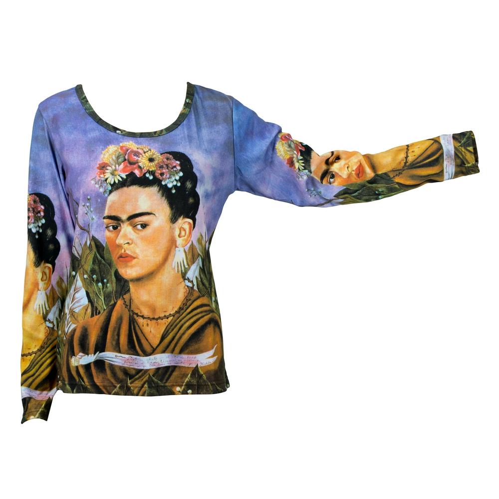 Clothes Frida Kahlo Self Portrait Long Sleeve Medium by JOE COOL