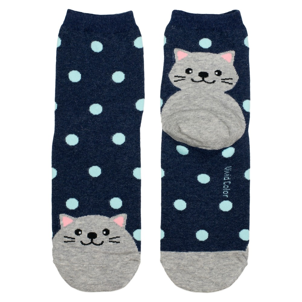 Socks Spotty Cat Made With Cotton & Spandex by JOE COOL