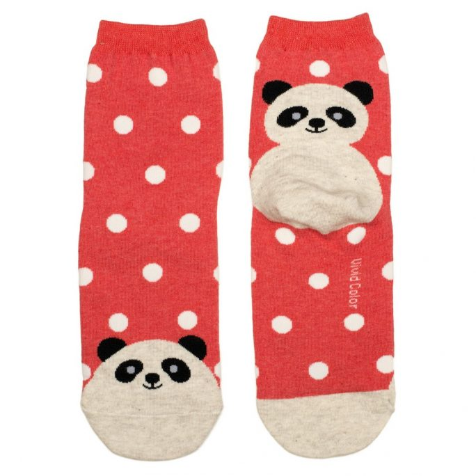 Socks Spotty Panda Made With Cotton & Spandex by JOE COOL