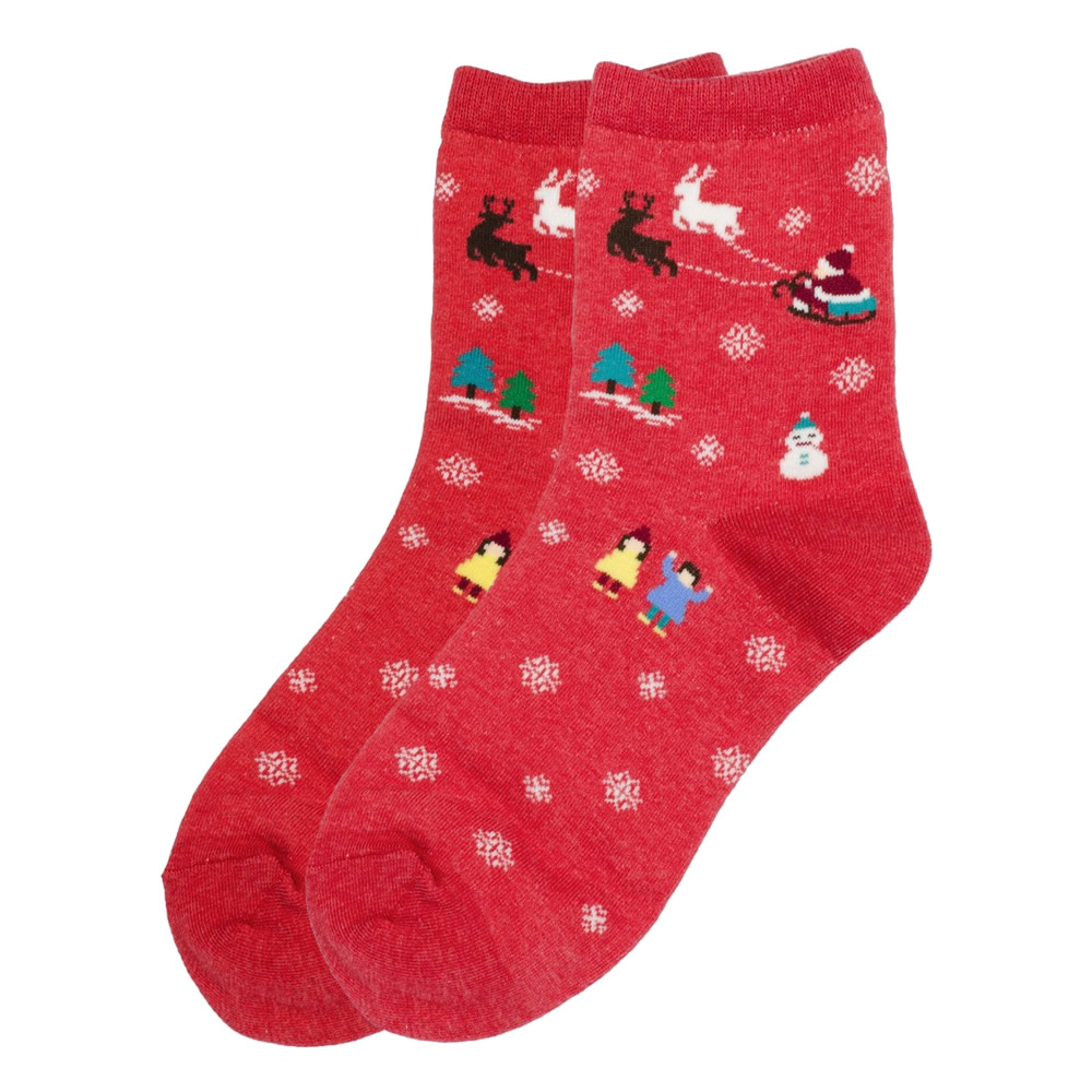 Socks Santas Sleigh Made With Cotton & Spandex by JOE COOL
