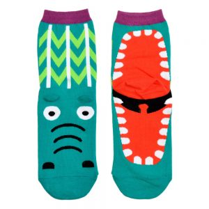 Socks Fairytale Creatures Crocodile Made With Cotton & Spandex by JOE COOL