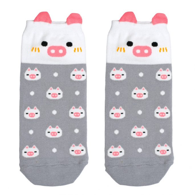 Socks Ankle Cute Pig Made With Cotton & Spandex by JOE COOL