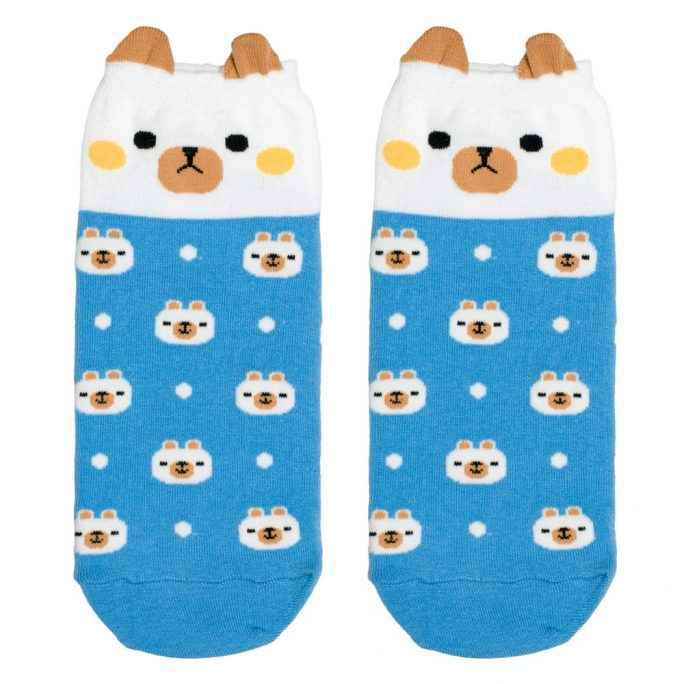Socks Ankle Cute Bear Made With Cotton & Spandex by JOE COOL