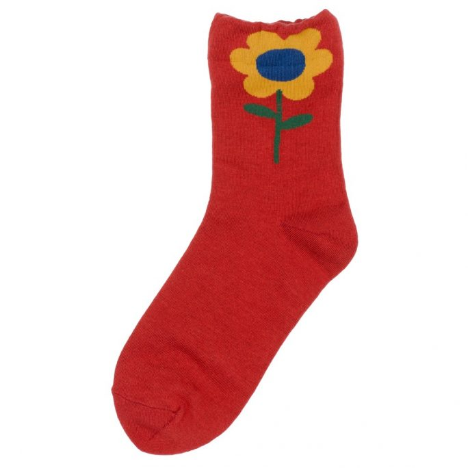 Socks Big Flower Made With Cotton & Spandex by JOE COOL