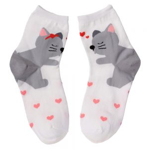 Socks Storytime Cat Made With Cotton & Spandex by JOE COOL