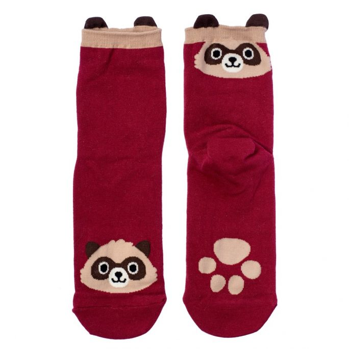 Socks Racoon Made With Cotton & Spandex by JOE COOL