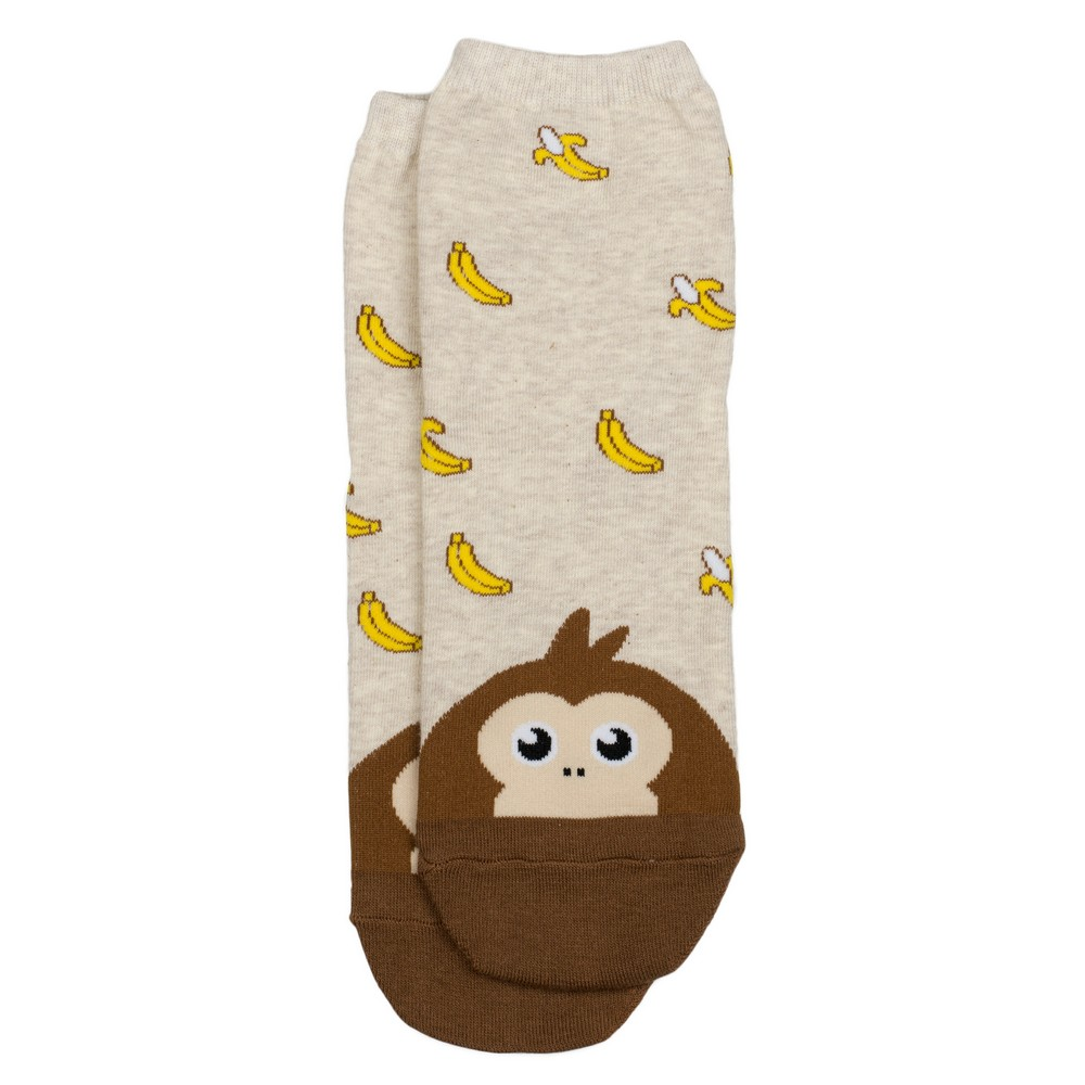Socks Animal Treats Monkey Made With Cotton & Spandex by JOE COOL