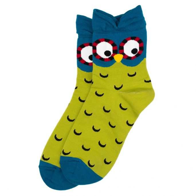 Socks Owl Made With Cotton & Spandex by JOE COOL