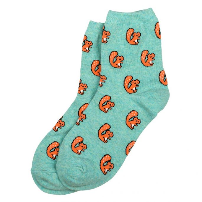 Socks Tiny Animal Squirrel Made With Cotton & Spandex by JOE COOL