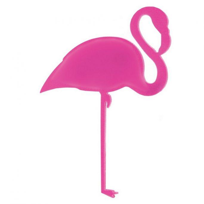 Brooch Flamingo 60mm Made With Acrylic by JOE COOL